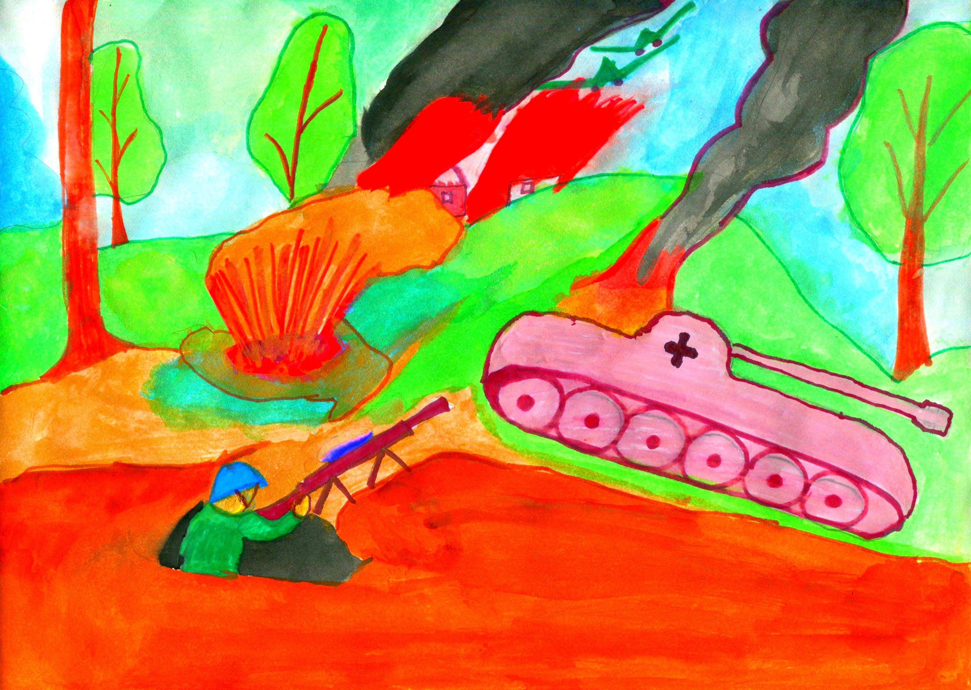 Картинки войны детские рисунки